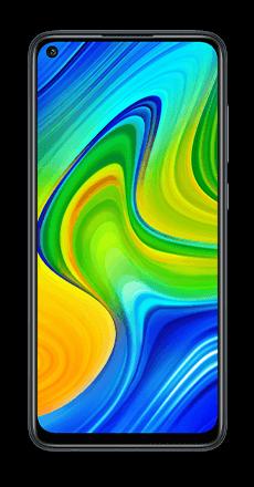 Xiaomi redmi note 9 negro frontal movistar