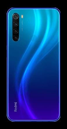 xiaomi redmi note 8 2021 azul posterior